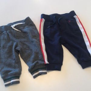 Janie & Jack joggers. Includes both pairs.